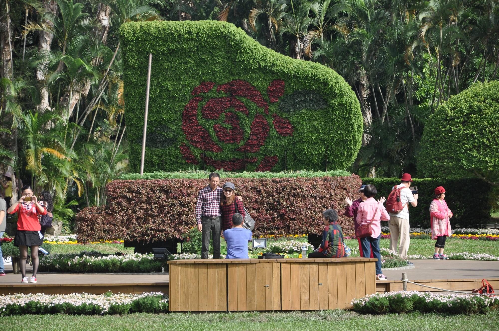 圖3.主題園區吸睛的綠雕是今年菊展不可錯過的嬌點