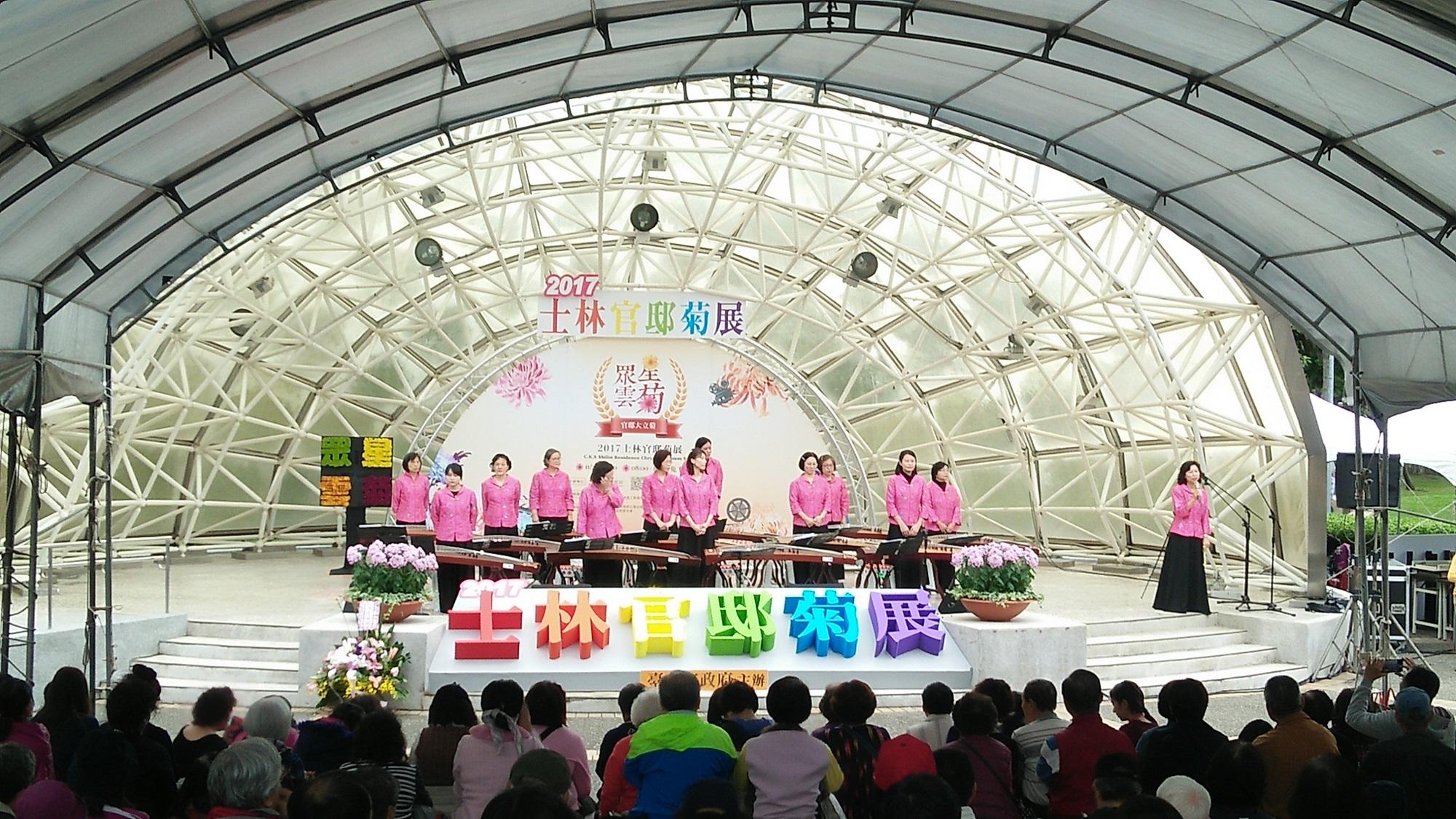 圖10 11月26日萬祥古箏樂團表演座無虛席