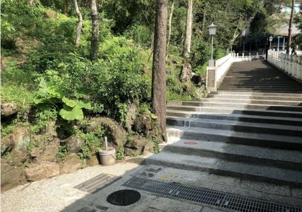 景觀階梯復舊完成
