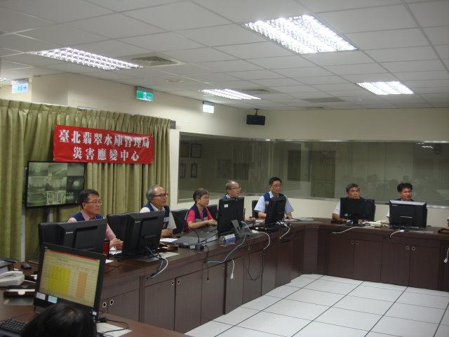 因應泰利颱風來襲,翡管局完成颱風防災準備