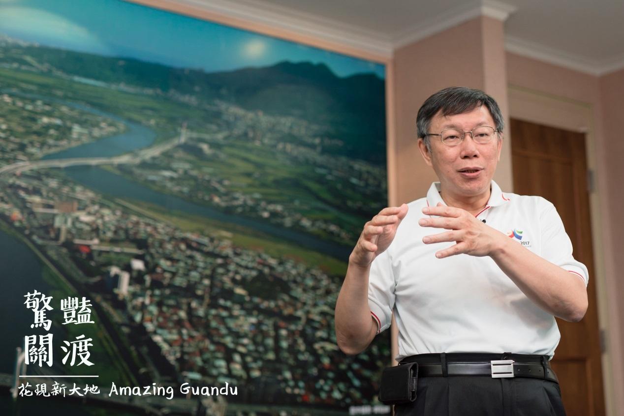 3.台北市長柯文哲拍攝宣傳影片介紹花海五大賣點