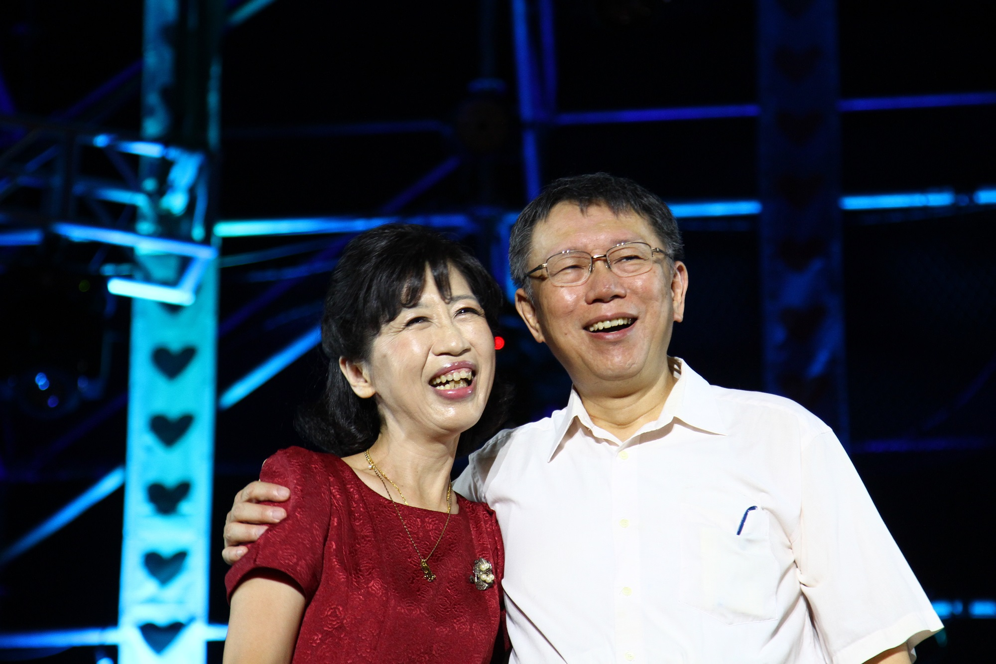 臺北市長柯文哲與夫人陳佩琪開心共度大稻埕情人日