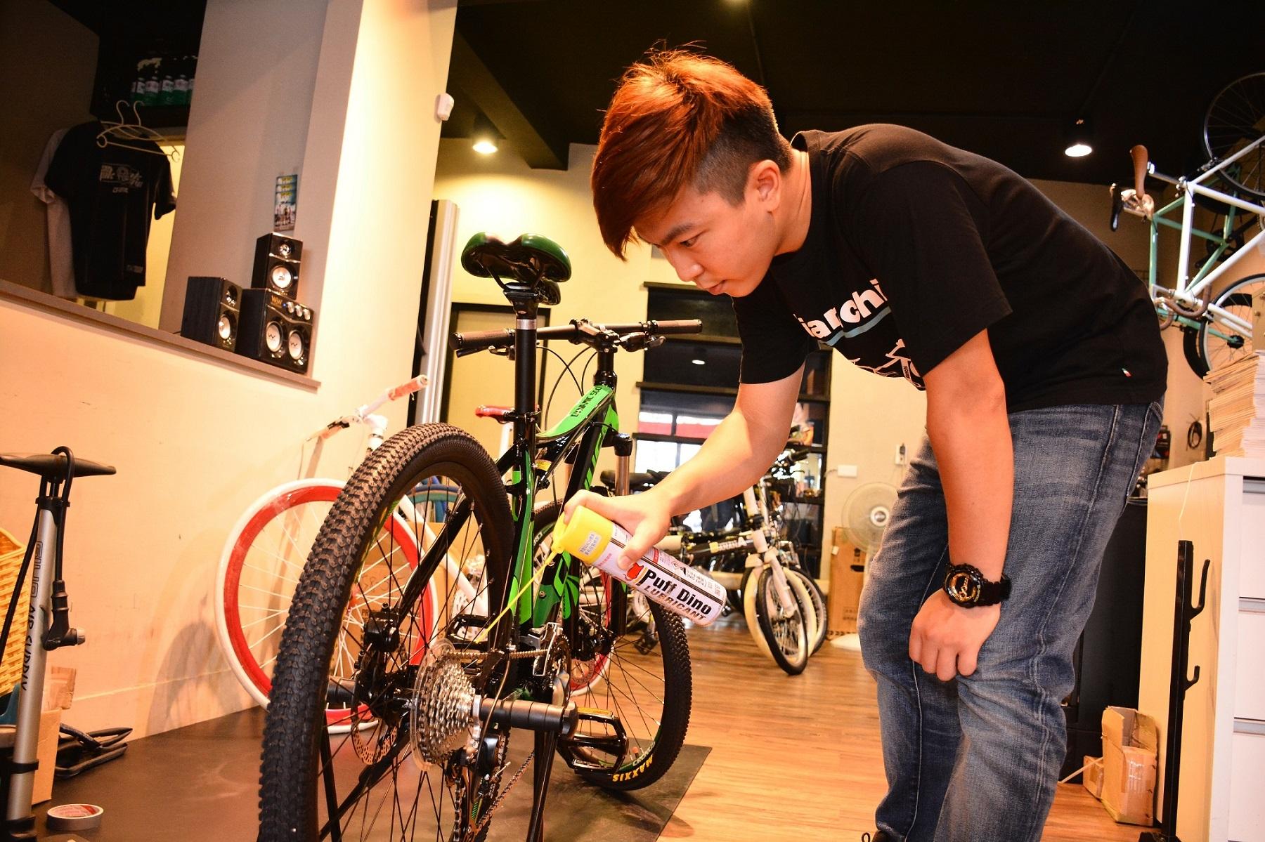 威輪單車咖啡提供單車免費健檢服務