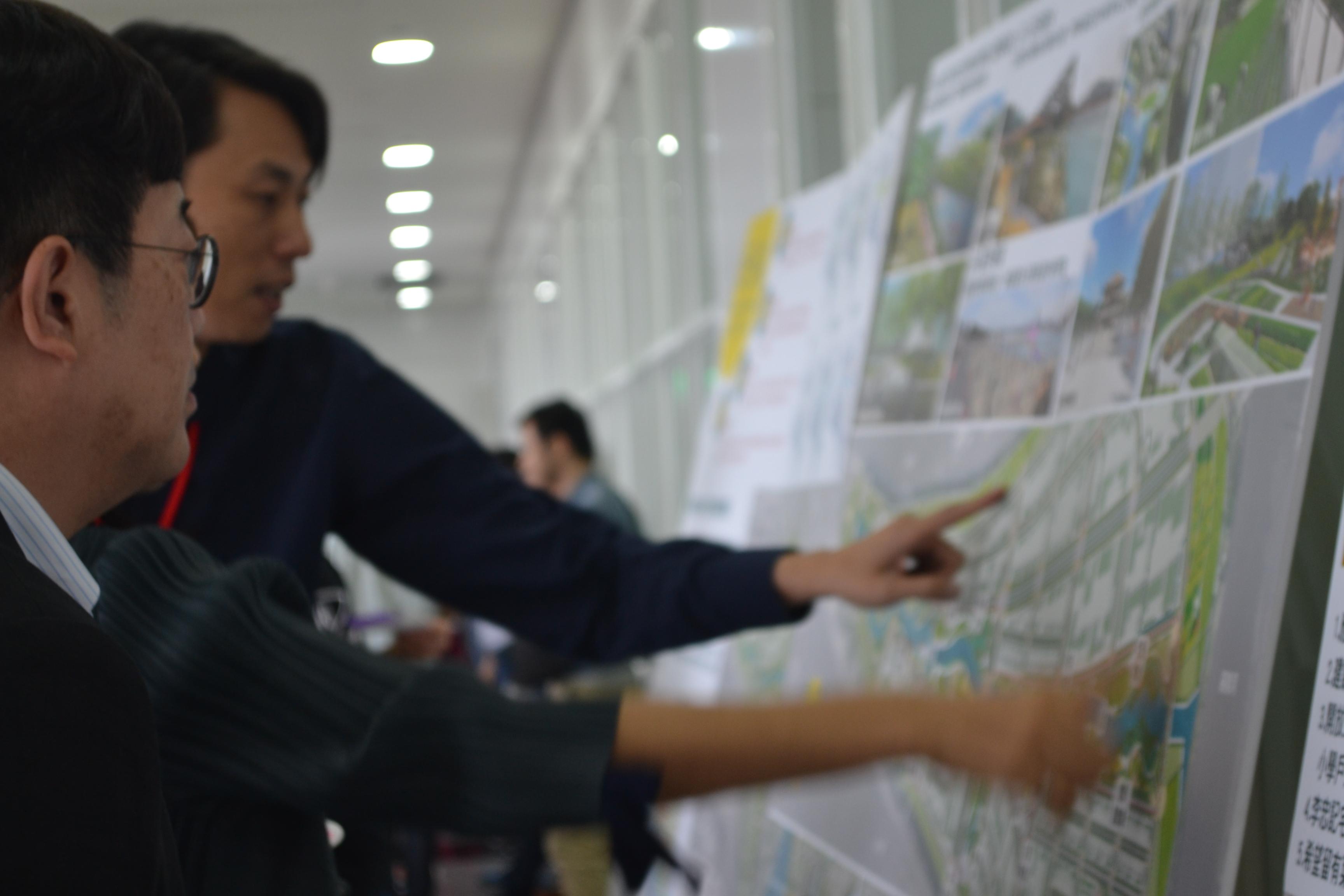 圖3社子島生態景觀展示板業界專家說明社子島未來願景