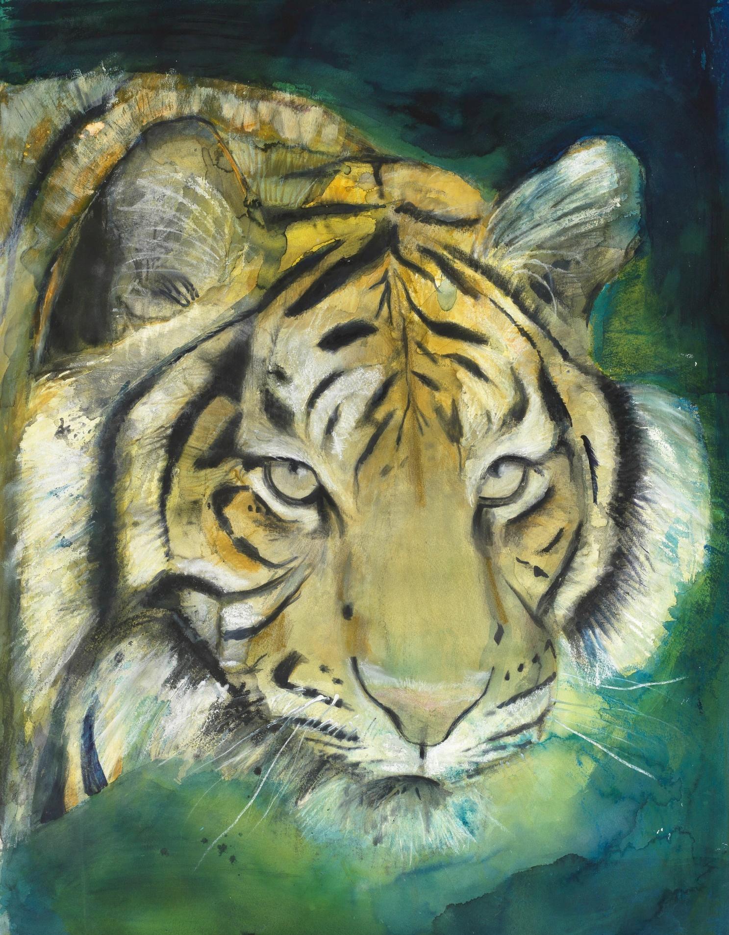 圖5. Russ Ronat作品蘇門答臘虎(Sumatran Tiger)