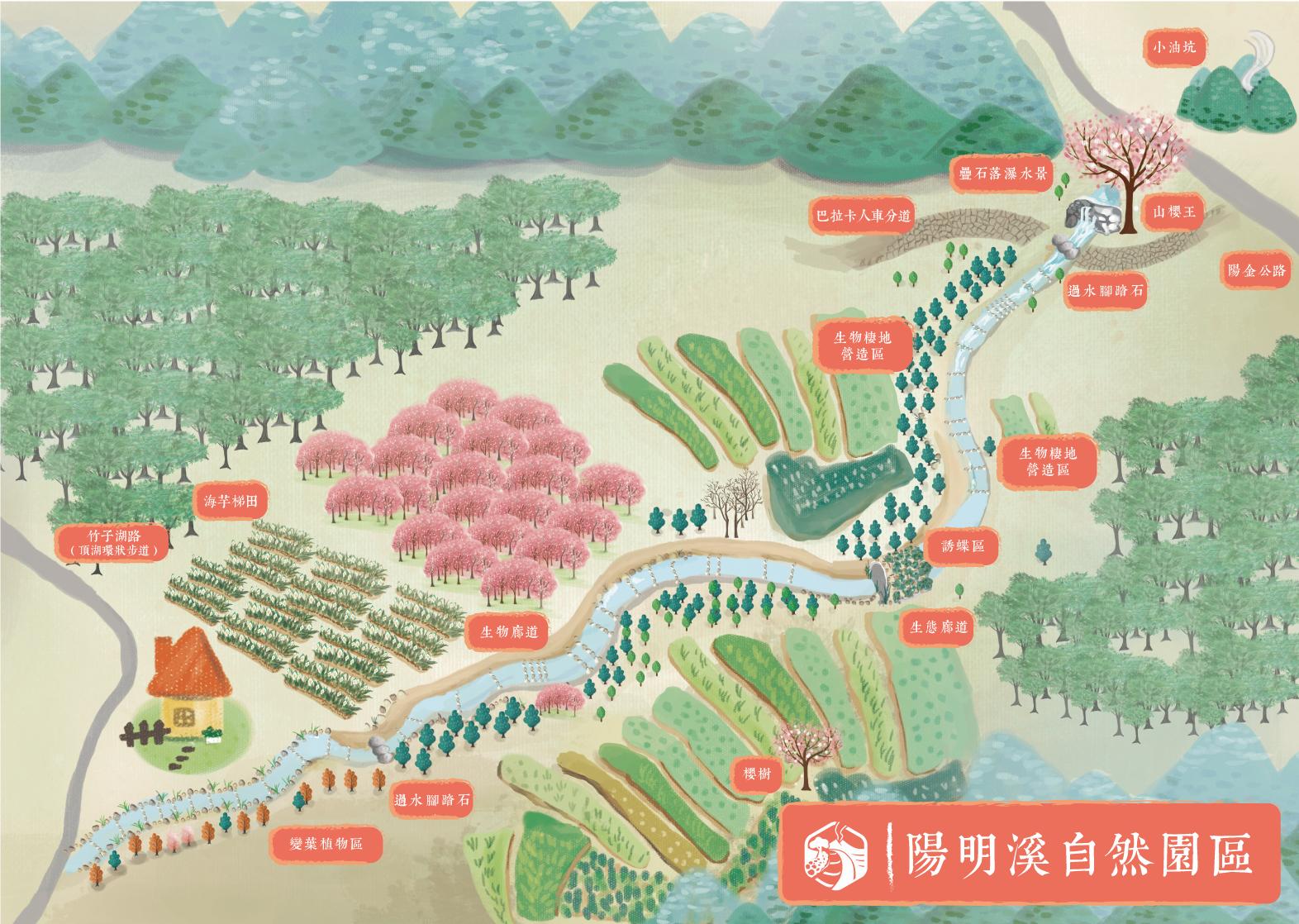 陽明溪自然園區地圖