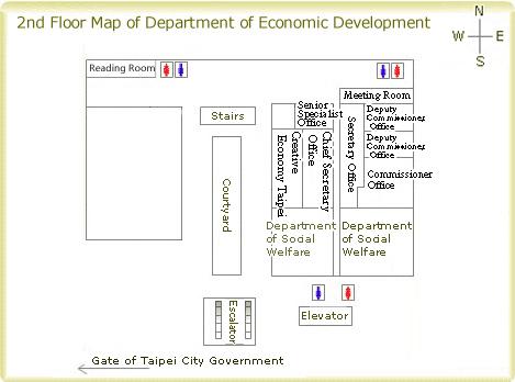 2nd Floor Map of Department of Economic Development