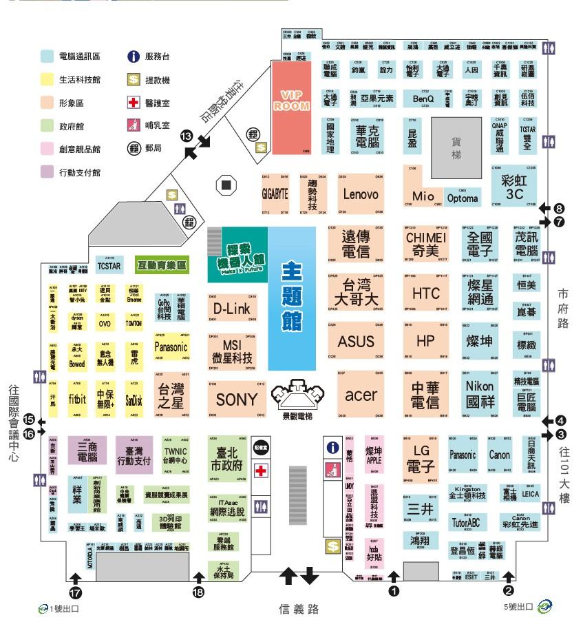 記者會地點-「臺北市政府」主題館位置圖