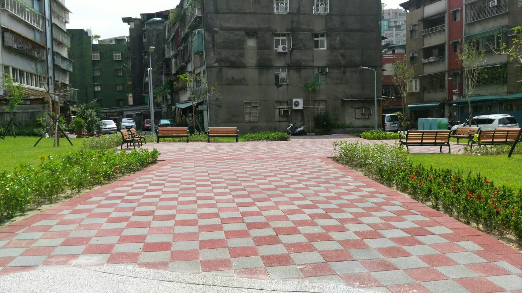 圖4.休憩廣場以透水舖面施作,達海綿城市效果