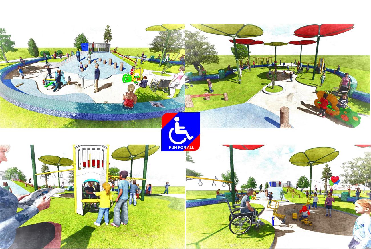 圖2. 榮星公園無障礙共融性設施
