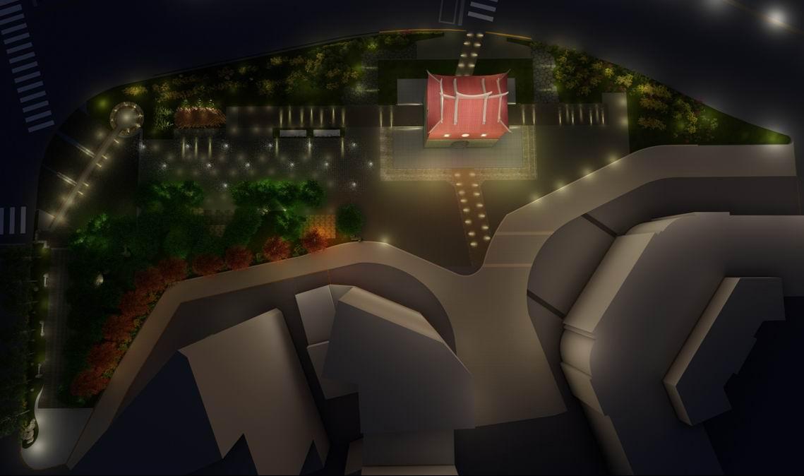 北門廣場夜間照明模擬圖