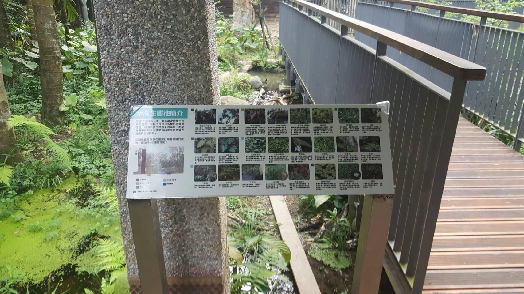 圖6.園區涼亭內新設立的生物解說牌