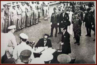The Japanese surrendered in the Second World War