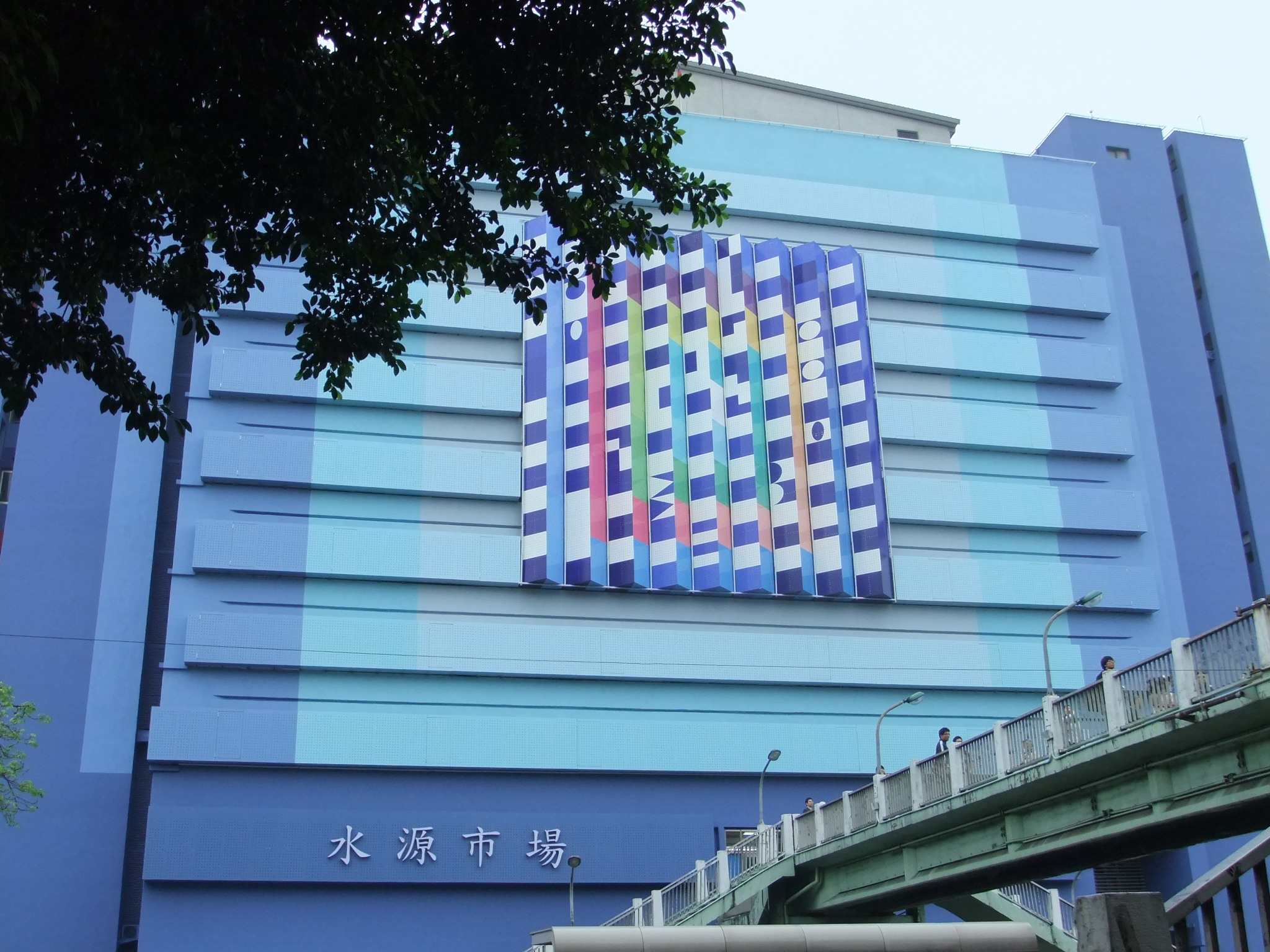 Israli artist Agam transforms Taipei old market into a giant art installation