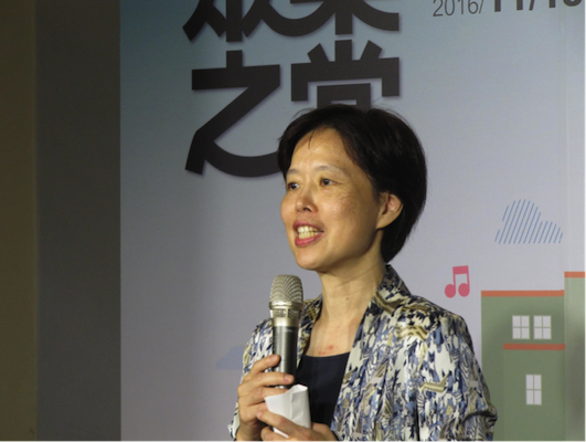 Watching a film alone on a computer can never replace coming here to watch performances with family and friends, said Kuo-chin Huang, director of Taipei Zhongshan Hall. (by LRM).