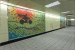 Decorated wall at the Xinzhuang Line Taipei City Section's Xingtian Temple Station