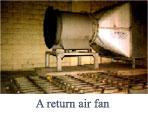 A return air fan