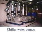 Chiller water pumps