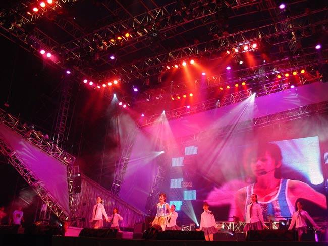 Idol star Wnag Cindy performance