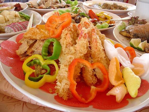 Taiwan good food fried shrimp volume
