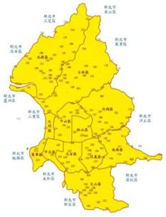 臺北市三等衛星控制點分佈圖