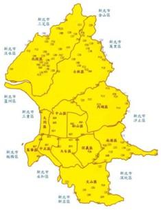 臺北市四等衛星控制點分佈圖