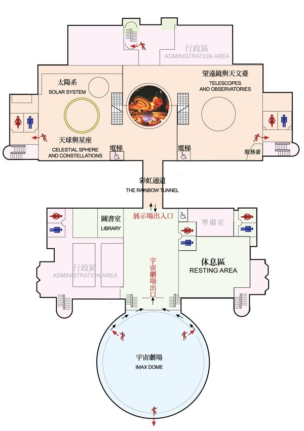 天文館2樓平面圖