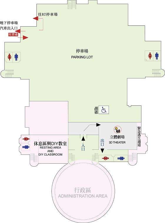天文館B1平面圖