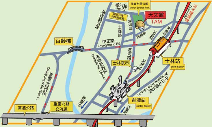 天文館交通指引地圖