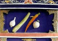 博古柱堵:蒜、洋蔥、黃瓜、蘿菠