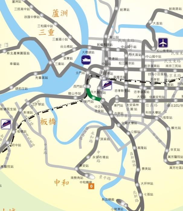小南門線路網圖