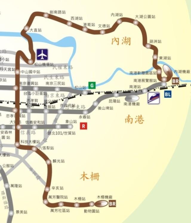 文湖線路線圖