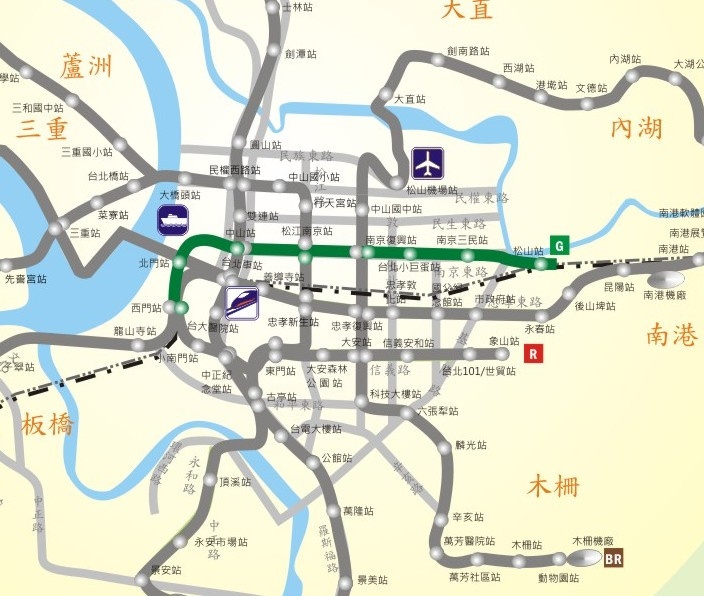 松山線路網圖