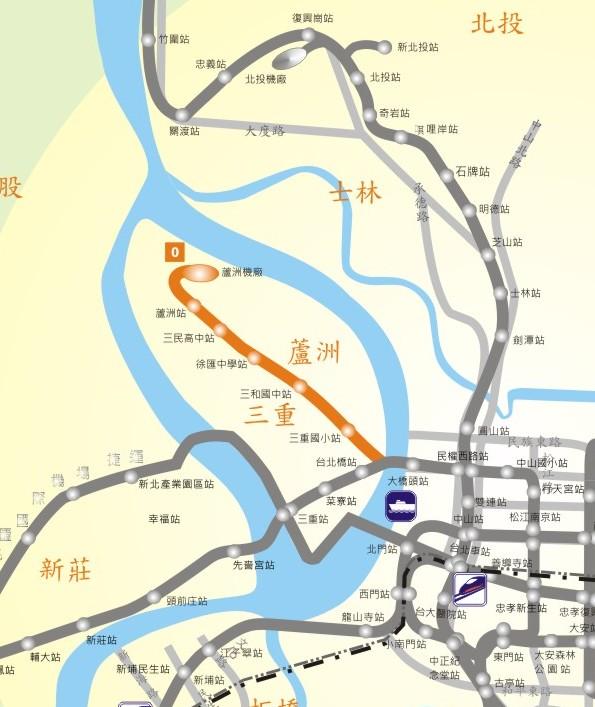蘆洲線路網圖