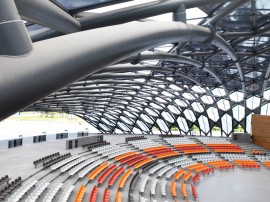 Inside the EXPO Hall. Provided by King Shih Architects
