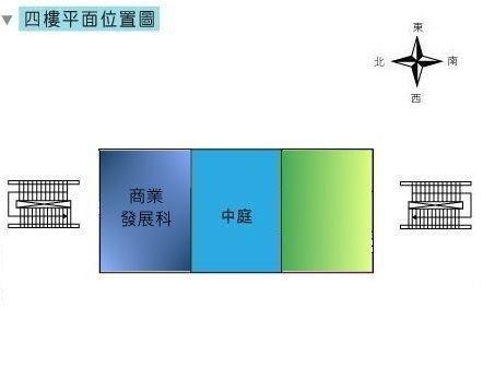 圖:臺北市商業處四樓平面圖