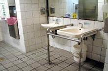 handrail around the sink