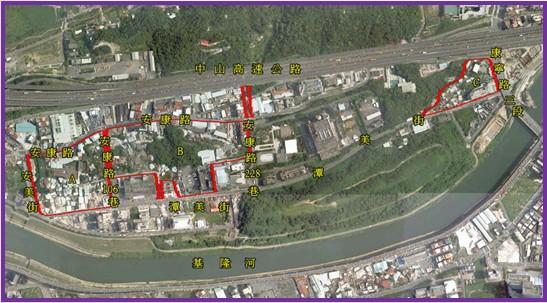 內湖區第九期擬辦市地重劃區航照位置圖