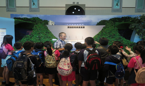 照片4:106年10月19日(週四)水資源生態教育館翡翠大壩體驗教學。.