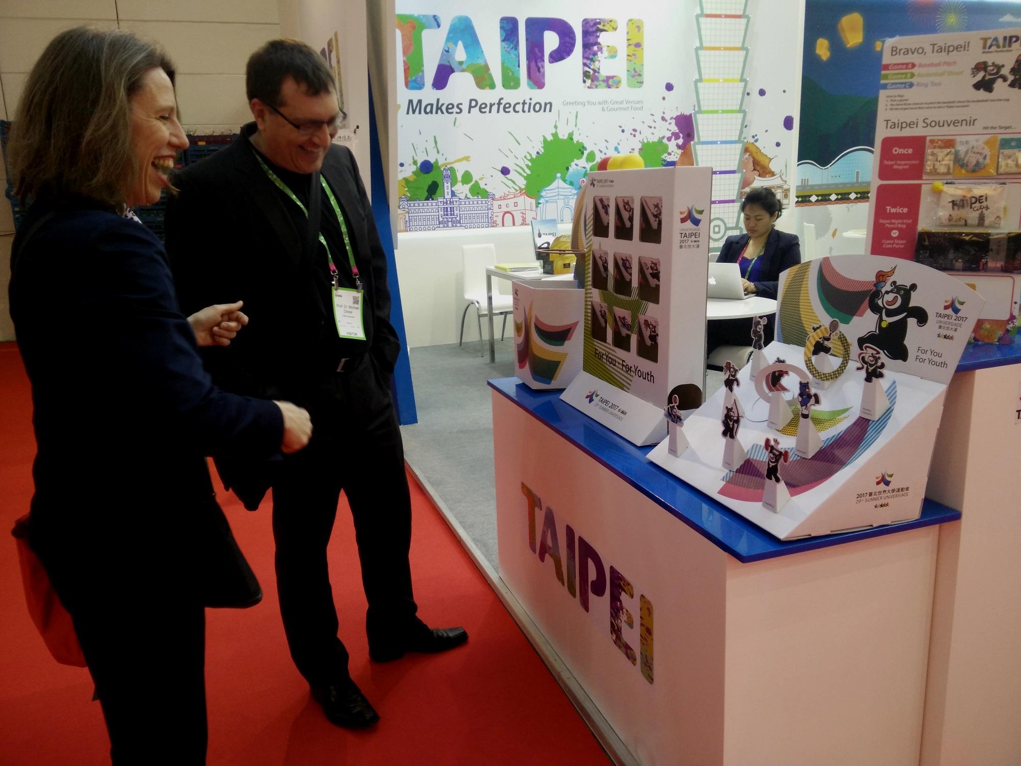 臺北展攤宣傳2017世大運,國際買家熱鬧參與活動