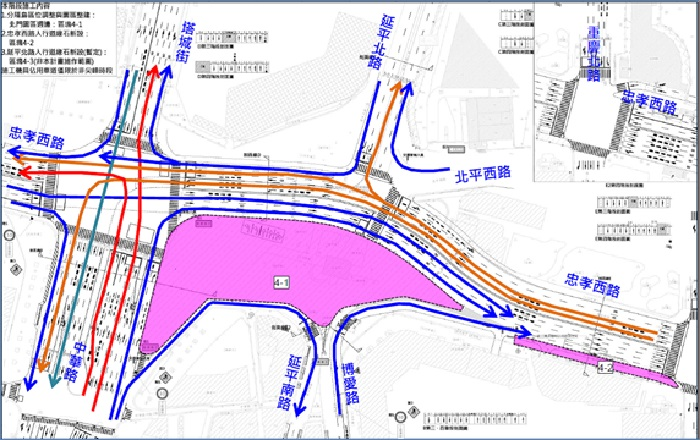 (第四階段)路型北拱轉換後動線示意圖