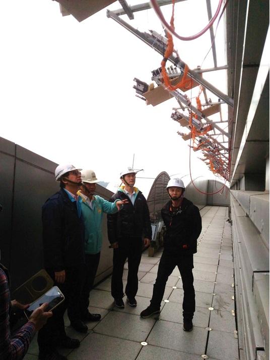 於101大樓實施跨年煙火架設作業勞動檢查之情形