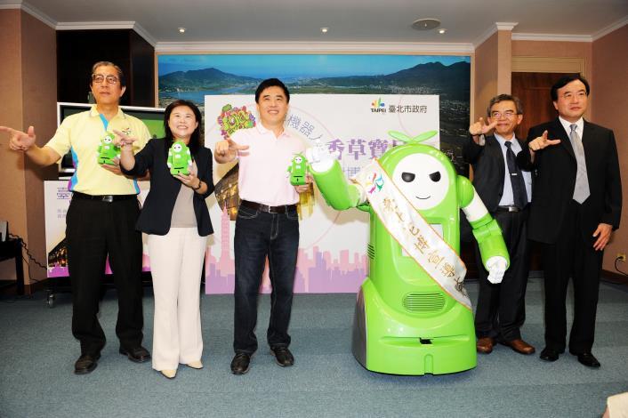 990628郝龍斌市長,香草寶貝,李副市長(左2),花博丁總製(左1)等合影
