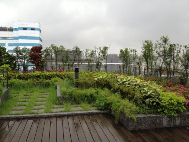 忠孝東路集合住宅屋頂花園貯留