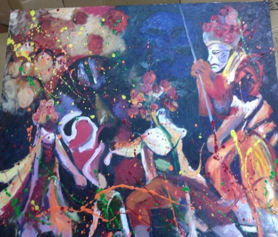 大安區公所蕭雅君同仁的油畫作品2