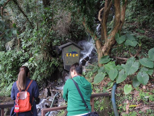 百年古圳瀑布