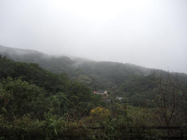 菁礐水圳沿線飄渺朦朧的美麗山景