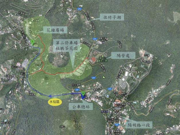 湖山綠地水仙種植位置圖[開啟新連結]