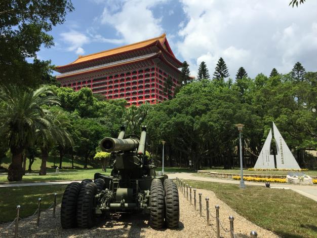 圖6、「M594-155公釐加農砲」是從南投縣集集鎮的兵整中心  北運。