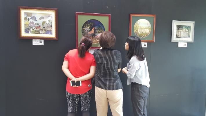 圖4、臺灣拈花惹草押花藝術聯展共展出32件作品。